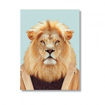 Karte mit Tierportrait Löwe