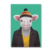 Karte mit Tierportrait Schaf