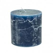Stumpenkerzen 10cm x 10cm Dark Blue