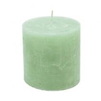 Stumpenkerzen 10cm x 10cm Light Green