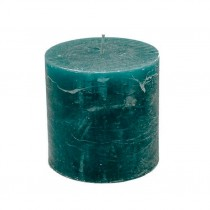 Stumpenkerzen 10cm x 10cm Petrol