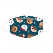 Kinder Mundschutz mit Weihnachtstiere