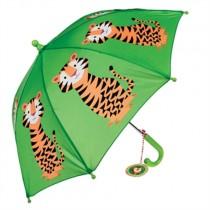 Kinder Regenschirm Bunte Tierfreunde Tiger