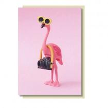 Flamingo Klappkarte KAMERA