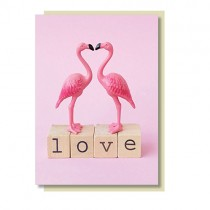 Flamingo Klappkarte LOVE