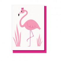 "Klappkarte ""Flamingo Bell Boy"""