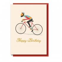 Klappkarte Happy Birthday Bicycle