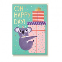 "Klappkarte Allison Black ""Oh happy day"""