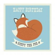 Klappkarte Rusty the Fox