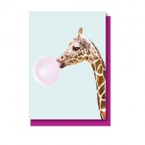 "Klappkarte ""Paul Fuentes"" Giraffe mit Kaugummi"