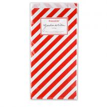 Geschenktüten Set Streifen Rot