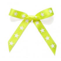 Schleifenband Sterne Neon Gelb