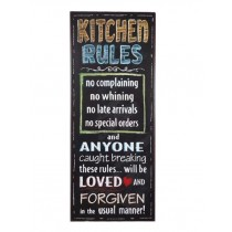 "Schild ""Kitchen Rules"""