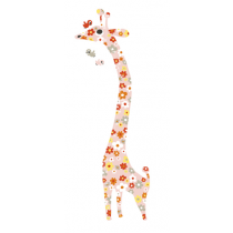 Messgiraffe Wandsticker Flower