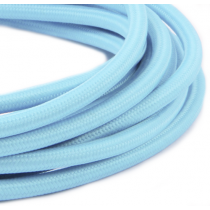 Textilkabel 3 Meter Dusty Baby Blue