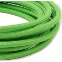 Textilkabel 3 Meter Lime Green