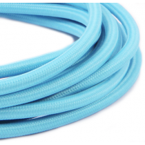 Textilkabel 3 Meter Light Blue