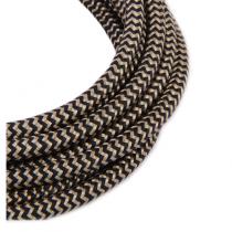Textilkabel 3 Meter Schwarz-Gold