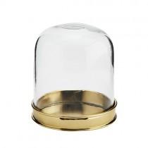 Glasglocke mit Untersetzer