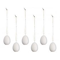 Anhänger Keramik Eier 6er Set
