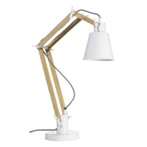 Tischlampe mit Metallschirm Weiß