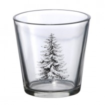 Teelichtglas Tannenbaum