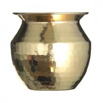 Vase Hammered Brass