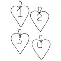 Zahlenanhänger mit Herzen