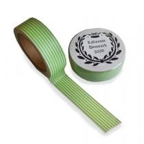 Masking Tape Grün gestreift
