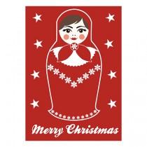 "Karte Matroschka ""Merry Christmas"""