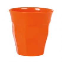 Melamin Becher Unifarben Orange