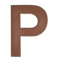 Metallbuchstabe P