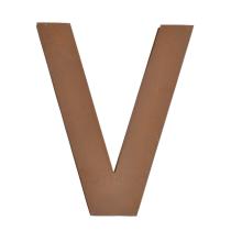 Metallbuchstabe V