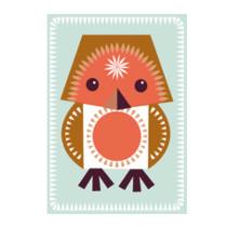 Jumbo Karte mit Rotkehlchen Basteltier und Umschlag