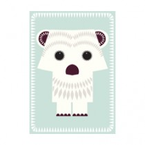 Jumbo Karte mit Eisbär Basteltier und Umschlag