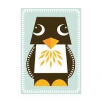 Jumbo Karte mit Pinguin Basteltier und Umschlag