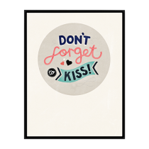 "Michelle Carlslund Bild ""Don´t forget to kiss"""