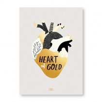 "Michelle Carlslund Bild ""Heart of Gold"""