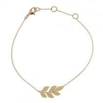 """Armkettchen """"Laurel Leaf"""" Gold"""