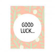 """Mini Geschenkbox """"Good Luck"""""""