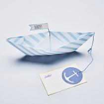 "Grußkarte ""Ahoy"" mit Papierboot"