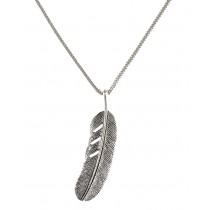 """Halskette """"Feder"""" Antik Silver"""