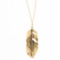 """Halskette """"Feder"""" Gold"""