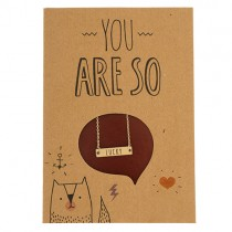 "Geschenkkarte mit Halskette ""You are so Lucky"""