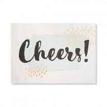 "Karte ""Cheers"" mit Goldprägung"