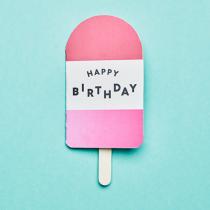 """Klappkarte Ice Cream """"Happy Birthday"""""""