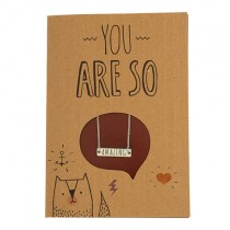 "Geschenkkarte mit Halskette ""You are so Amazing"""