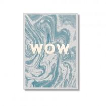 """Karte """"Wow"""" mit Goldprägung"""