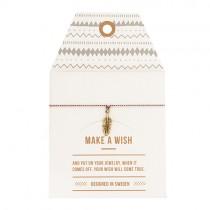 "Armband ""Make a wish"" Feder Gold"
