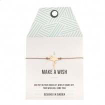 "Armband ""Make a wish"" Flamingo Gold"